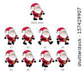 santa claus walking frames. | Shutterstock .eps vector #157429907