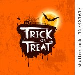 halloween trick or treat... | Shutterstock .eps vector #157431617