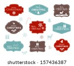 collection of christmas labels | Shutterstock .eps vector #157436387