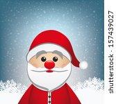 santa claus winter snowy... | Shutterstock .eps vector #157439027