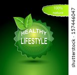 healthy lifestyle | Shutterstock .eps vector #157446047