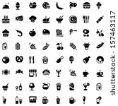 set of icons with food and...   Shutterstock .eps vector #157463117