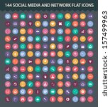 121 social media and network... | Shutterstock .eps vector #157499963