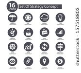 strategy concept icons vector... | Shutterstock .eps vector #157518803