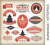 christmas decoration vector... | Shutterstock .eps vector #157537013