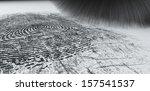 a crime scene brush dusting... | Shutterstock . vector #157541537