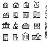 building  house icons | Shutterstock .eps vector #157547357