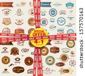 set of labels  banners ... | Shutterstock .eps vector #157570163