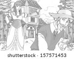 the sketch coloring page  ... | Shutterstock . vector #157571453
