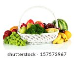 different fruits and vegetables ... | Shutterstock . vector #157573967