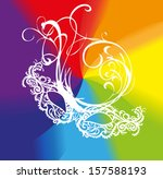white lace carnival mask on a...   Shutterstock .eps vector #157588193