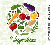 vegetables  healthy food | Shutterstock .eps vector #157605083