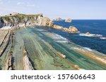 arnia beach  cantabria  spain. | Shutterstock . vector #157606643
