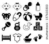 baby icons | Shutterstock . vector #157610303