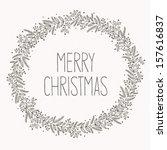 Christmas wreath doodle
