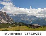 alpine church  val gardena... | Shutterstock . vector #157629293