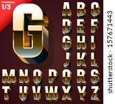vector illustration of golden... | Shutterstock .eps vector #157671443