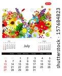 Floral Calendar 2014  July