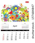 Floral Calendar 2014  April