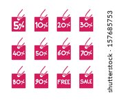 sales sticker tag with... | Shutterstock .eps vector #157685753