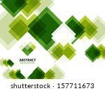 green modern geometrical... | Shutterstock .eps vector #157711673