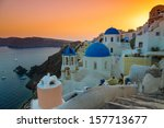 colorful sunset over the... | Shutterstock . vector #157713677