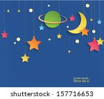 abstract 3d paper night... | Shutterstock .eps vector #157716653
