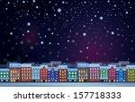 Vector Of Winter  Night...