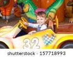 beautiful boy having fun on the ... | Shutterstock . vector #157718993