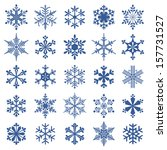 collection of 25 snowflakes | Shutterstock .eps vector #157731527