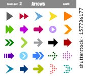 icons set of colors arrows | Shutterstock .eps vector #157736177