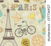 paris seamless pattern | Shutterstock .eps vector #157736927