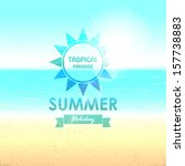 summer background with sunny... | Shutterstock .eps vector #157738883