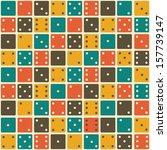 domino seamless pattern | Shutterstock .eps vector #157739147