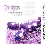christmas cracker isolated on... | Shutterstock . vector #157758743