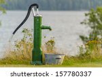 Water Pump In Front Of A Lake...
