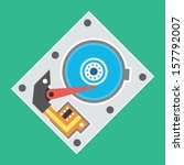 vector hard drive icon | Shutterstock .eps vector #157792007