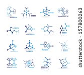 molecule icons set   isolated... | Shutterstock .eps vector #157800263