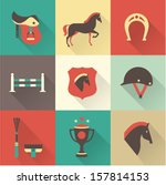 Vector Horse icons set - stock vector