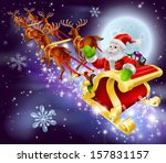 christmas cartoon illustration... | Shutterstock .eps vector #157831157