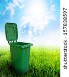 Green Plastic Trash Recycling...