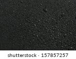 drops of water on black...   Shutterstock . vector #157857257