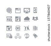 seo   database icon set | Shutterstock .eps vector #157860407
