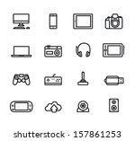 Icons electronic  devices