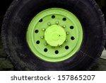 Bolts In Green Wheel Hub Of...