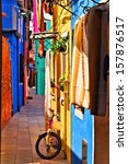 vibrant  colorful street in