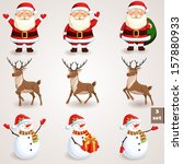 christmas icons set. holiday...