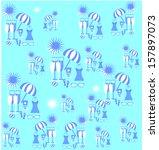 beach pattern for summer   Shutterstock .eps vector #157897073