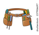 stock illustration of tool belt | Shutterstock .eps vector #157906697