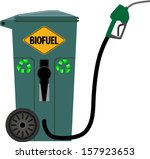trash can as a pump for bio...   Shutterstock .eps vector #157923653
